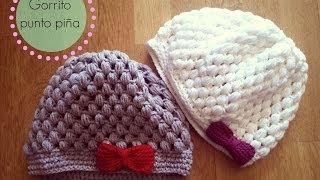 Gorro de ganchillo fácil punto piña - Crochet Hat Puff Stitch (Tutorial paso a paso)