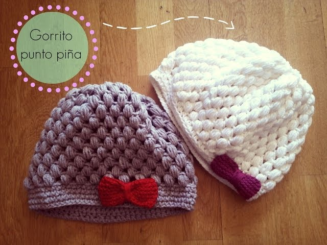 Gorro de ganchillo fácil punto piña - Crochet Hat Puff Stitch (Tutorial paso a paso) Videos De Viajes