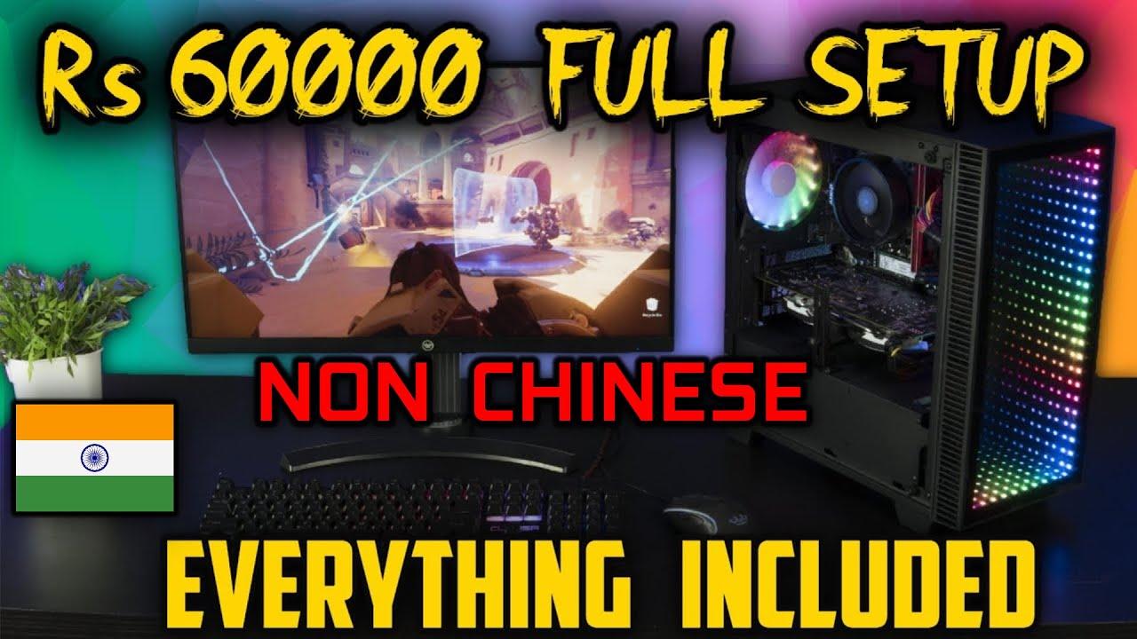 Rs 60000 Full Gaming/Streaming Setup with Monitor and Peripherals [HINDI]