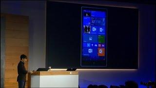 Microsoft shows off Windows 10 on a Lumia smartphone