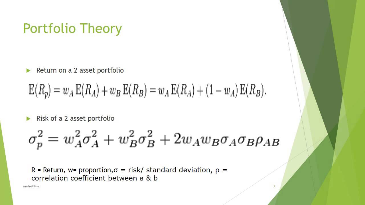 modern portfolio theory Definition it is an investment theory based on the idea that risk-averse investors can construct portfolios to optimize or maximize expected return based on a given.