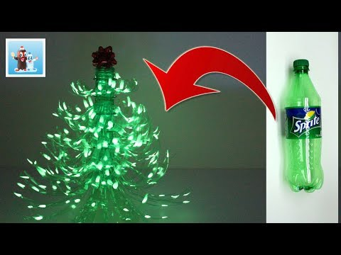 How to Reuse Plastic Bottle and Make  a Wonderful Christmas Tree