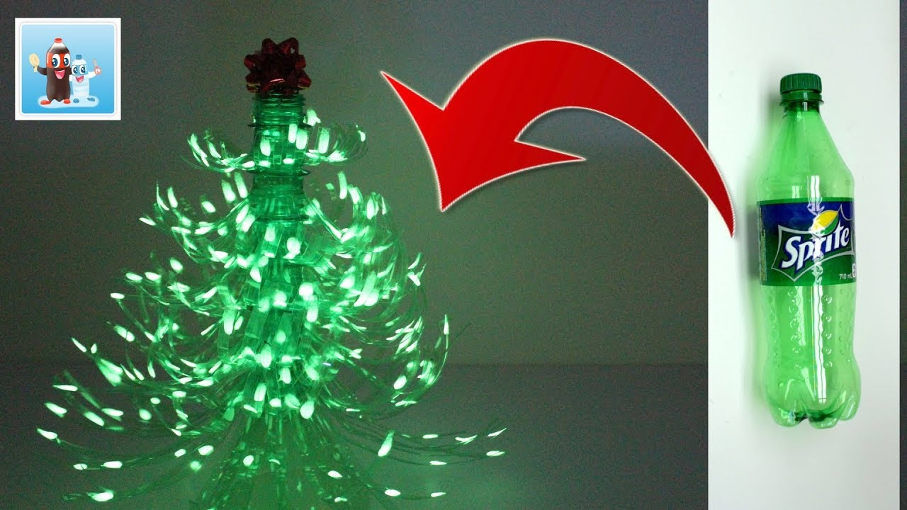 Plastic Christmas Tree.How To Reuse Plastic Bottle And Make A Wonderful Christmas Tree