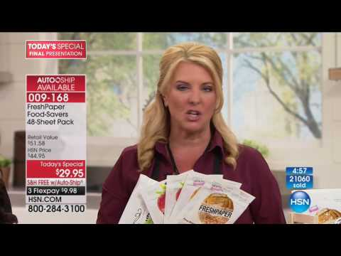 HSN | Kitchen Innovations featuring FreshPaper 08.07.2017 - 10 PM