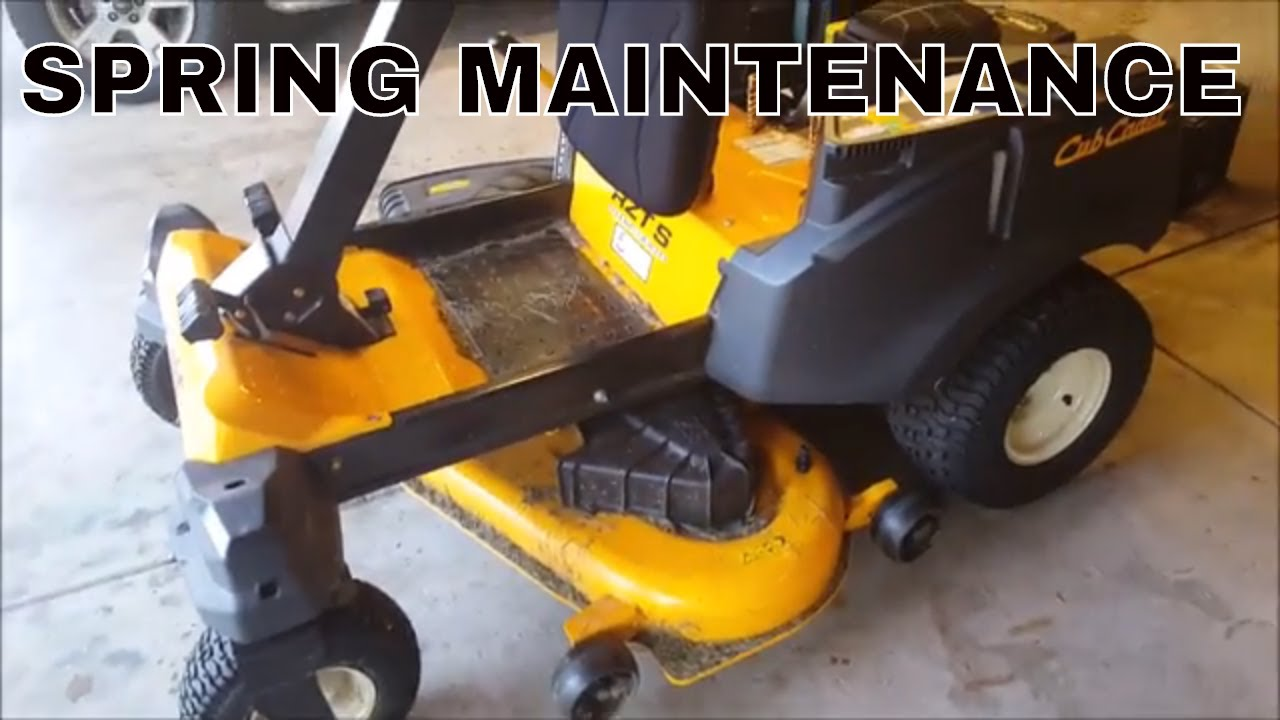 Cub Cadet RZT oil change and lube