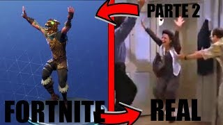 ALL FORTNITE BAILES IN REAL LIFE! * NEW 2018 * (PART2)