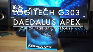 Logitech G303 Daedalus Apex - Unboxing gaming mouse, software walkthrough & review