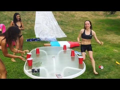 Flip the Cup Lake Edition  Ellen Page & Nina Dobrev  Flatliners