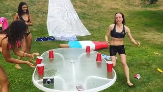 Flip the Cup Lake Edition | Ellen Page & Nina Dobrev | Flatliners