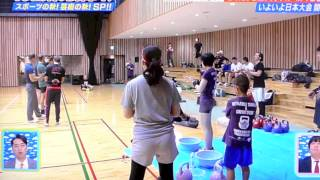 Japan Kettlebell Championship on a Japanese TV show ! (English Subtitle)