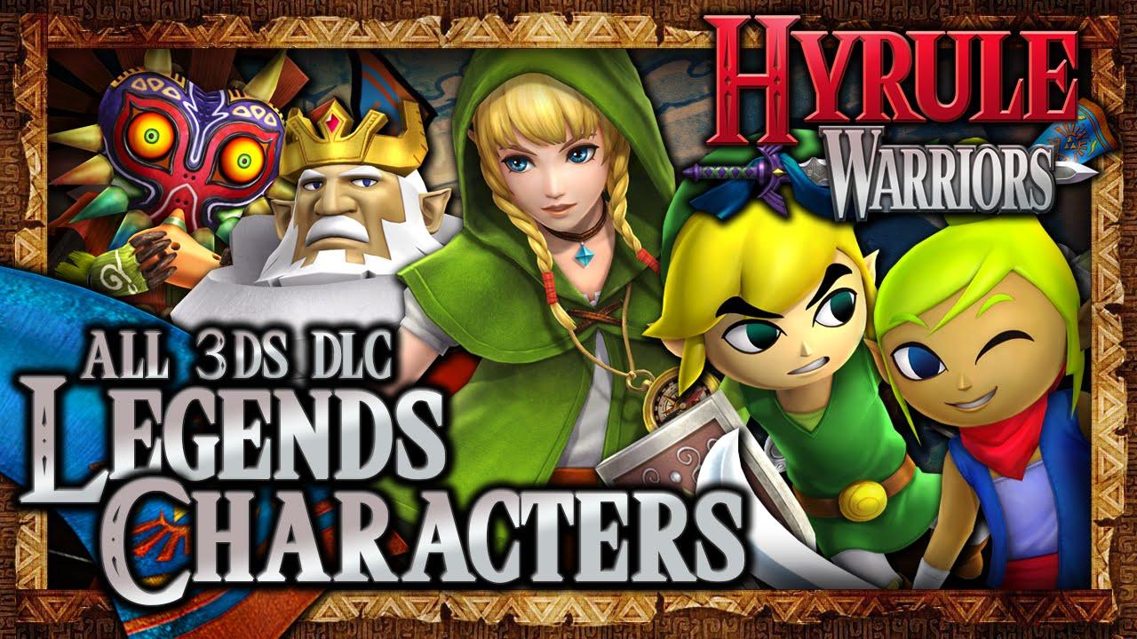 Hyrule Warriors Legends Dlc All New Legends Characters Dlc Gameplay Wii U Youtube