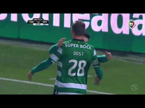 Golo de Bas Dost: Tondela 1-(1) Sporting (Liga 23ªJ)