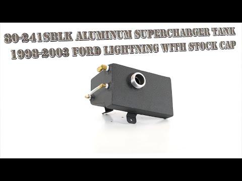 98-03 Ford Lightning with Stock Cap Canton Racing 80-241SBLK Aluminum Supercharger Tank