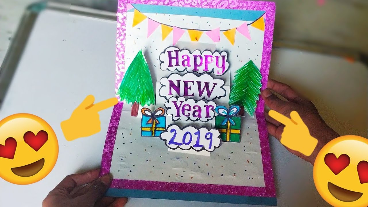new year greeting card how to make 3d greeting card for new yearpaper greeting card