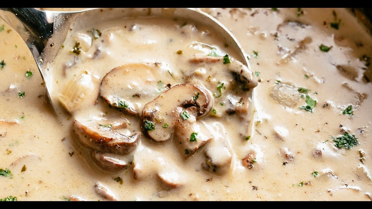 Cream Of Mushroom Soup Youtube