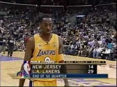 2002 NBA Finals: Nets at Lakers, Gm 1 part 3/13 - YouTube