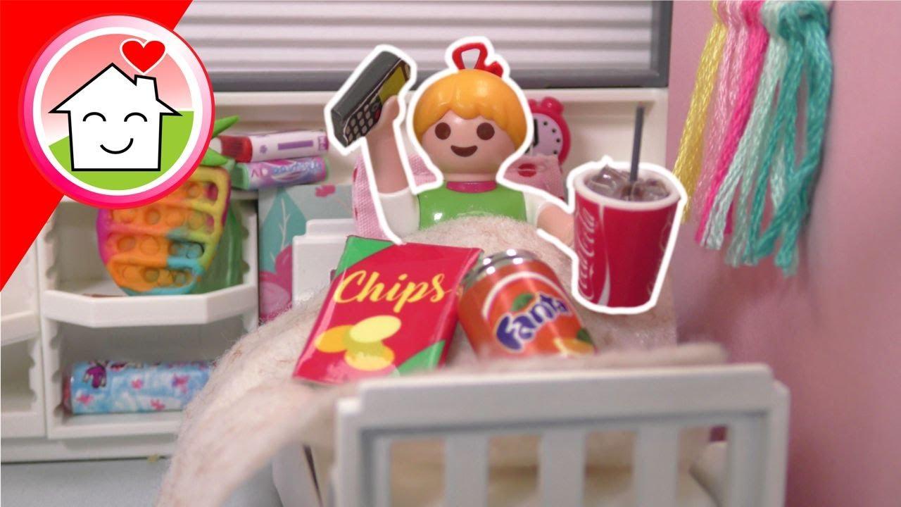 Playmobil Familie Hauser - 24 Stunden im Bett bleiben - Geschichte mit Anna und Lena