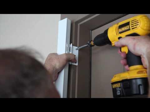 Metal Hinged Screen Door Installation