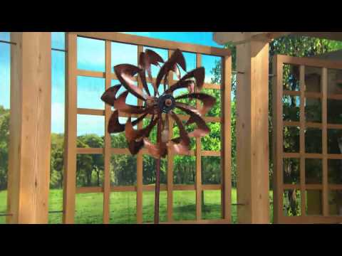 Plow & Hearth Wind Spinner with Solar LED Lights with Carolyn Gracie