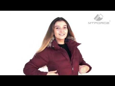 Куртка зимняя женская бордового и серого цвета F04