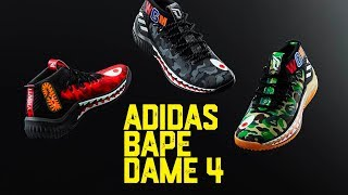 official photos a27a3 c1840 Adidas BAPE Dame 4 - 18 022018