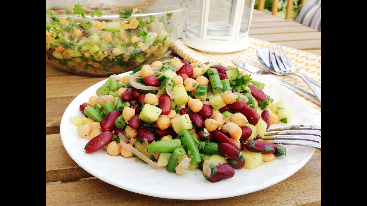 Mediterranean Chickpea Salad - GetFitWithLeyla - YouTube