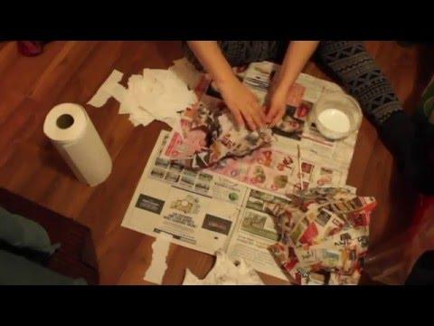 Making Paper Mache Fish