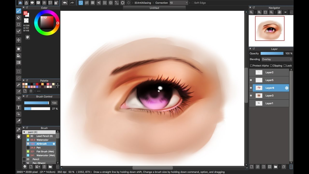 Coloring Eyes Medibang