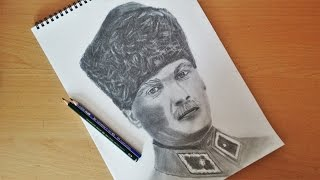 How to Draw Mustafa Kemal Ataturk Speed Drawing