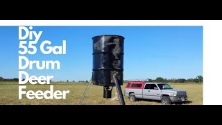 55 Gallon Drum Deer Feeder