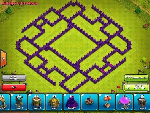 Clash Of Clans - EPIC TOWN HALL 9 Farming Base - Using New Village Edit Mode (Speed Build + Dubstep)