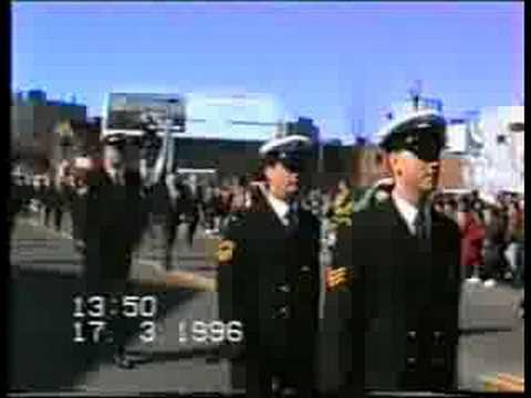 Irish Navy march in Boston
