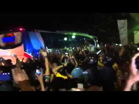 Juventus leaving GBK Stadium Jakarta 6 Agustus 2014