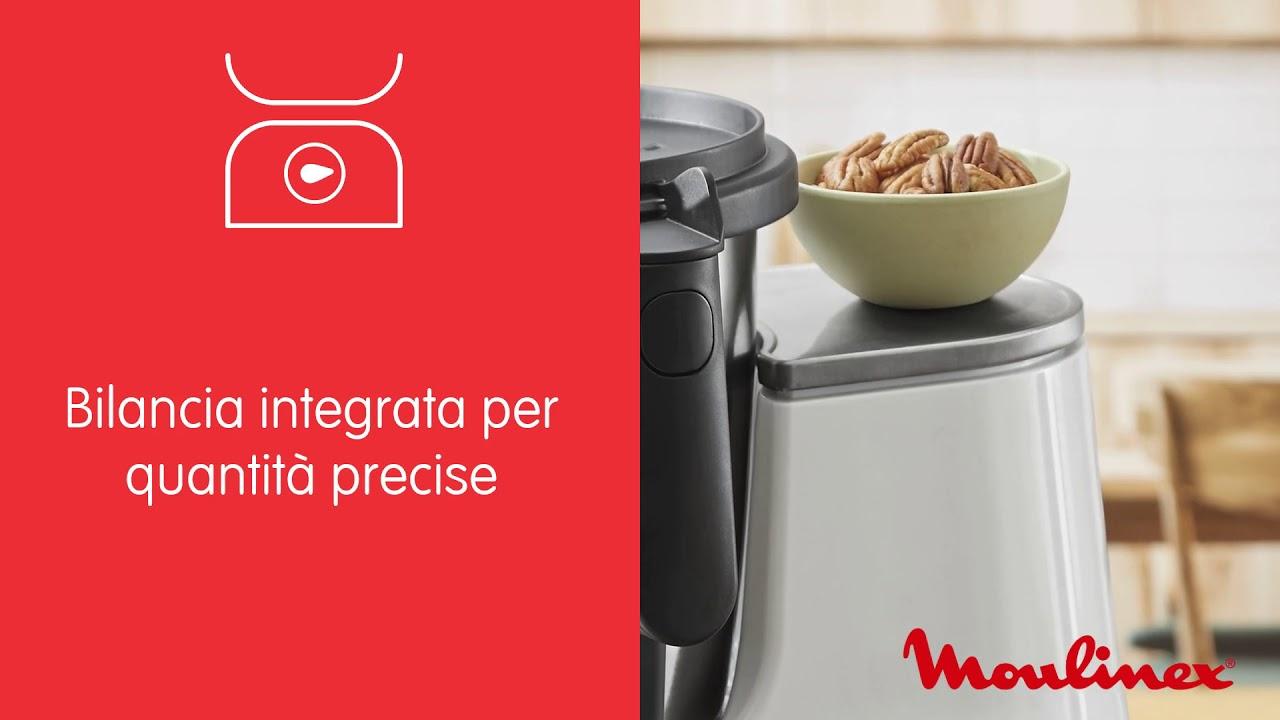 Moulinex Hf4521k Clickchef Robot Da Cucina Ricette Pronte In 2 Click 5 Programmi Automatici E Modalita Manuale 7 Accessori 3 6 L Di Capacita E Ricettario Incluso Bianco Robot Da Cucina In Offerta Su Unieuro