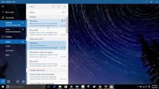 Setup Windows 10 Mąil App