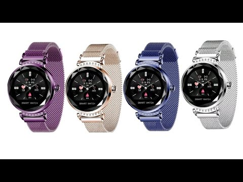 Womans Smart Watch Unboxing And Review. Android, IOS, Google, Sports Bracelet, Ebay