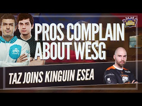 WESG Disgusting Player Conditions, TaZ Joins Kinguin Roster, And Fnatic Changes Coming?