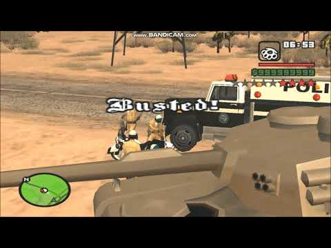 GTA San Andreas: Busted By Beta Police Bikers