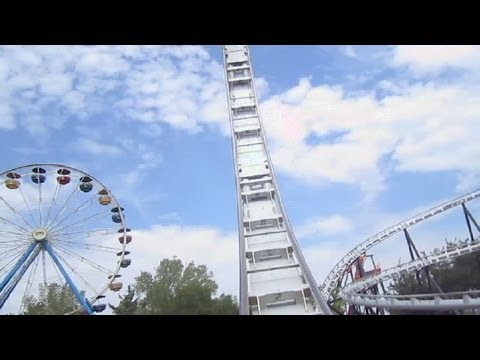 Silver Bullet Front Seat on-ride HD POV Frontier City