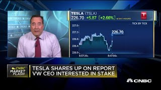 Tesla shares rise on report Volkswagen CEO is interested in stake