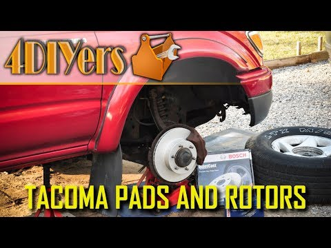 DIY: 95-04 Toyota Tacoma Front Brake Rotor and Pad Replacement