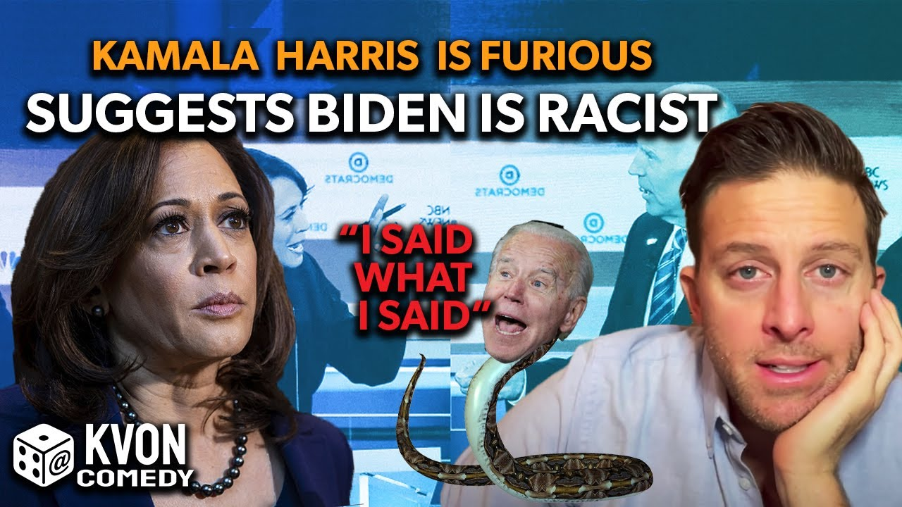 Kamala Harris is Furious About Biden's Racism... (comedian K-von exposes the facts)
