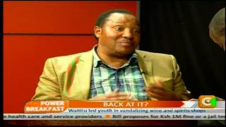 Power Breakfast: Waititu back at it