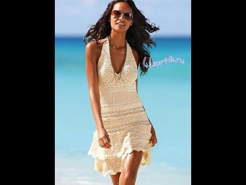 Вязание крючком для начинающих платье пляжное6