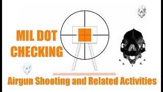 Mil Dot Reticle Calibration - Verificação do Retículo Mil Dot