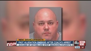 Coach charged with hitting naked teens