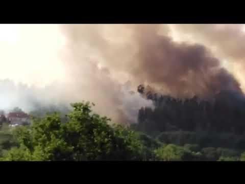 Activo un incendio forestal que ya ha arrasado cinco hectáreas en Santiago