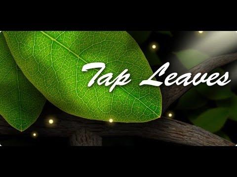 Tap Leaves - красивые живые обои