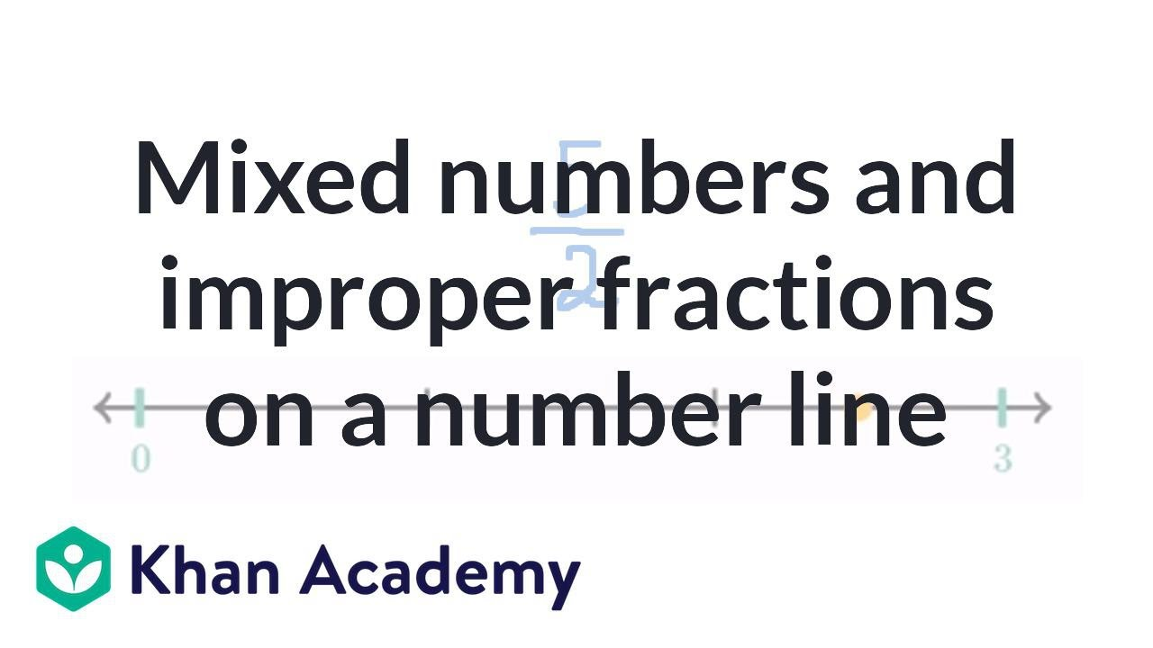 hight resolution of Mixed number or improper fraction on a number line (video)   Khan Academy