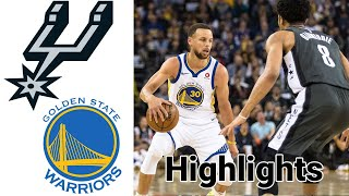 Spurs vs Warriors HIGHLIGHTS Full Game | NBA January 20